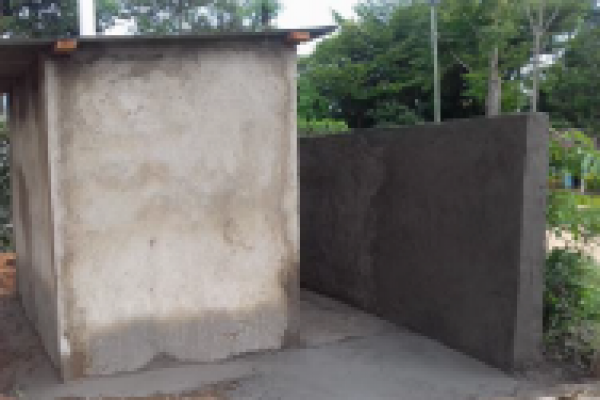 Toilets on  new site have been constructed